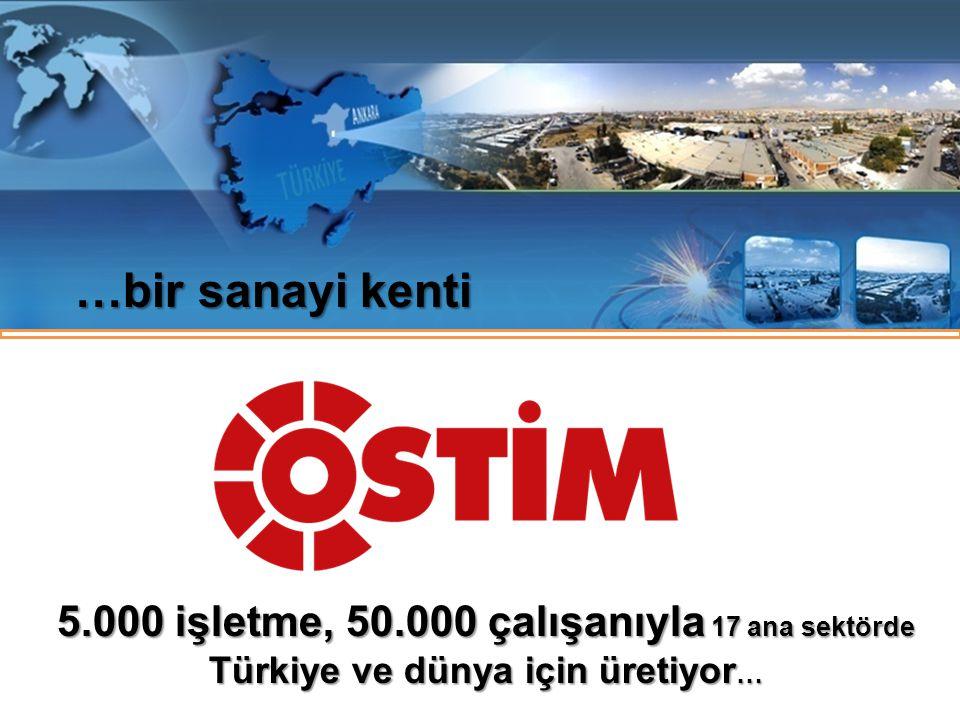 …bir sanayi kenti 5.000 işletme, 50.000 çalışanıyla 17 ana sektörde Türkiye ve dünya için üretiyor …