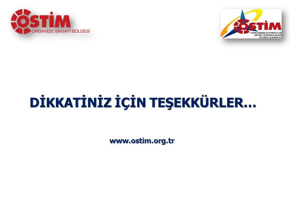 DİKKATİNİZ İÇİN TEŞEKKÜRLER… DİKKATİNİZ İÇİN TEŞEKKÜRLER…www.ostim.org.tr