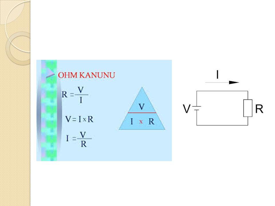 Örn: Basit bir elektrik devresinde V=16V ve R=2Ω ise, devreden geçen akımı bulunuz.
