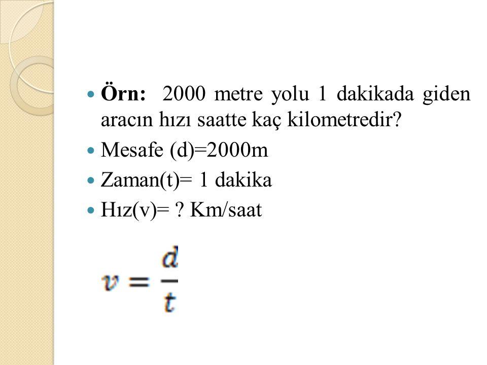 Örn= 0.3 MV gerilim değerinin kilovolt(kV) cinsinden yazınız.