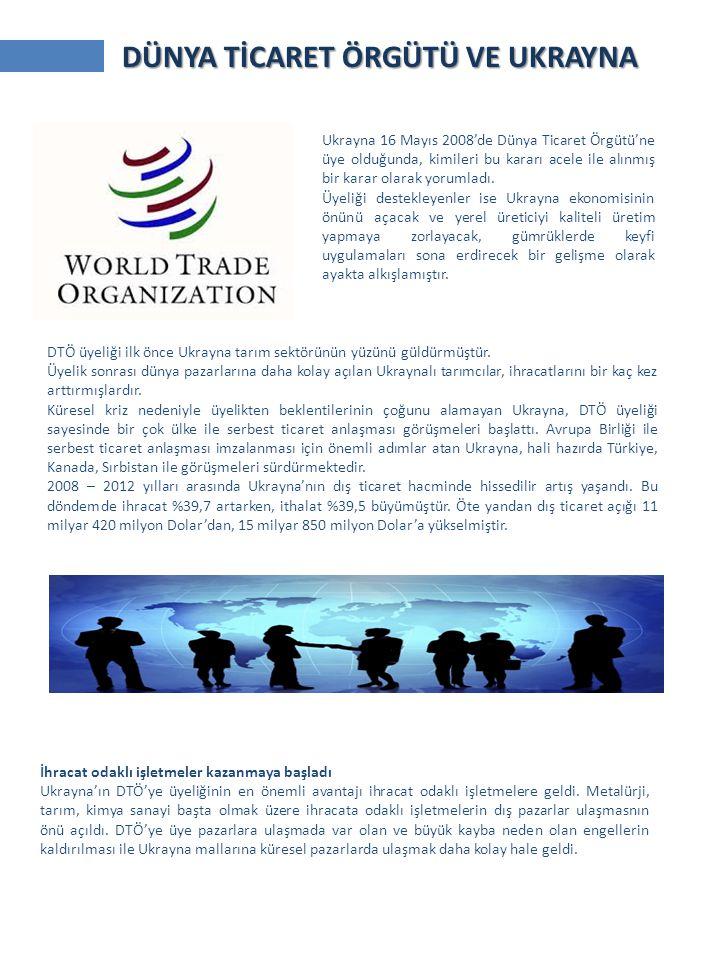 Ukrayna 16 Mayıs 2008'de Dünya Ticaret Örgütü'ne üye olduğunda, kimileri bu kararı acele ile alınmış bir karar olarak yorumladı.