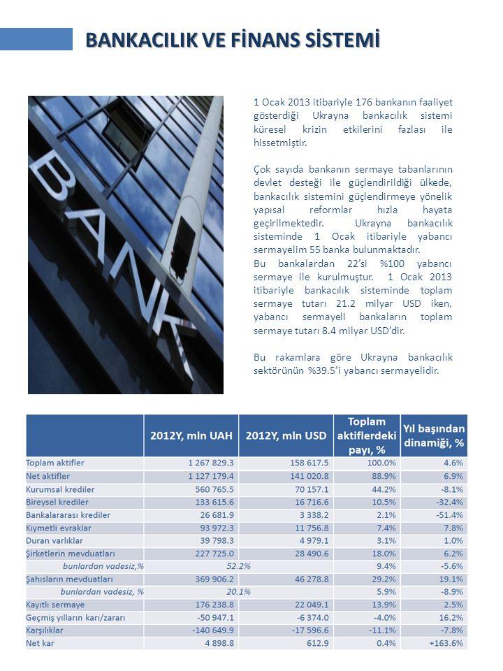 1 Ocak 2013 itibariyle 176 bankanın faaliyet gösterdiği Ukrayna bankacılık sistemi küresel krizin etkilerini fazlası ile hissetmiştir. Çok sayıda bank