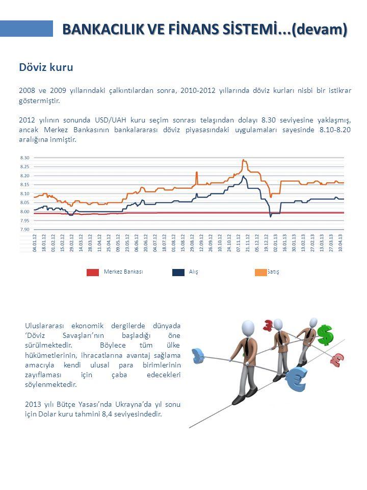 Merkez Bankası Alış Satış Döviz kuru 2008 ve 2009 yıllarındaki çalkıntılardan sonra, 2010-2012 yıllarında döviz kurları nisbi bir istikrar göstermiştir.