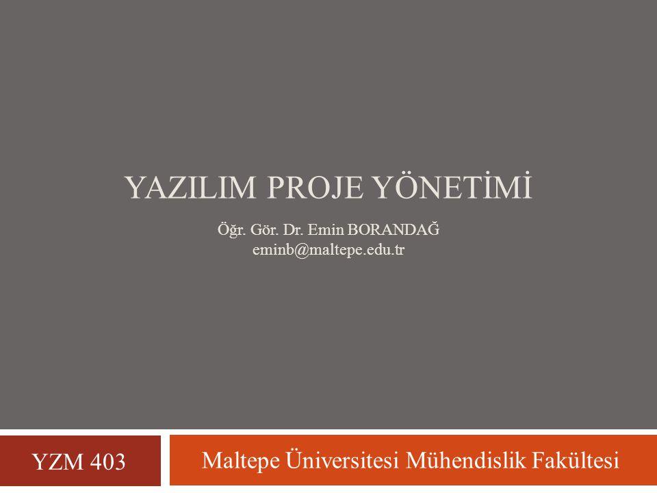 4. BÖLÜM YAZILIM BÜYÜKLÜK ve EMEK KESTİRİMİ YZM 403 - Yazılım Proje Yönetimi 2
