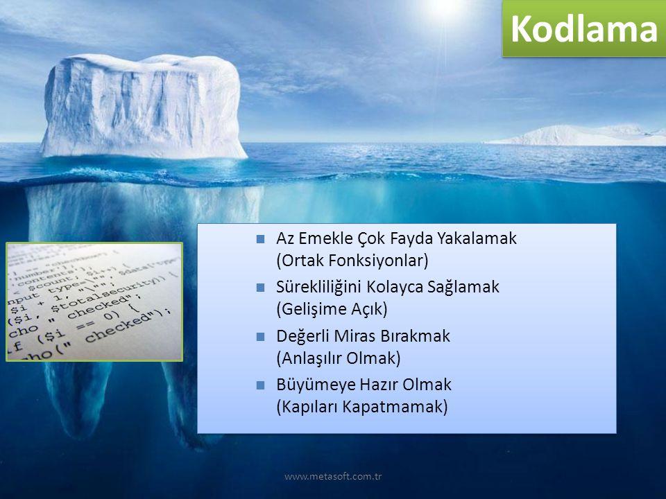 www.metasoft.com.tr Kodlama