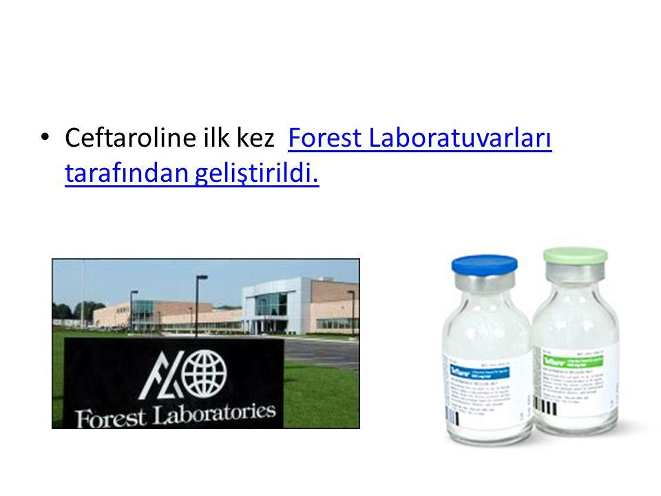 Ceftaroline ilk kez Forest Laboratuvarları tarafından geliştirildi.Forest Laboratuvarları tarafından geliştirildi.