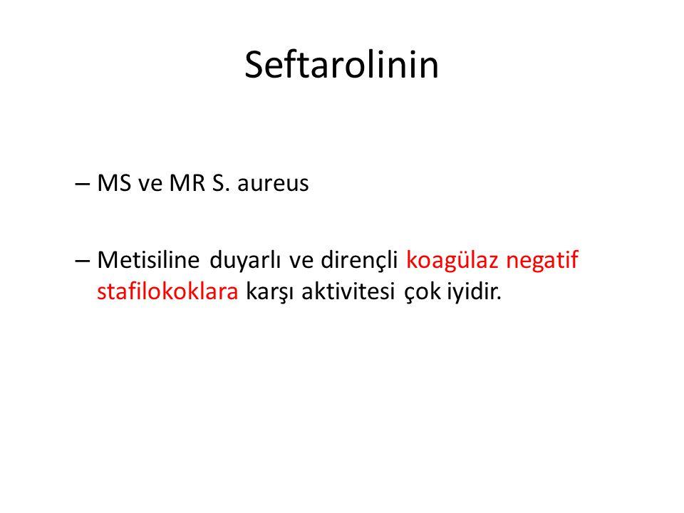 Penisiline duyarlı ve dirençli S.