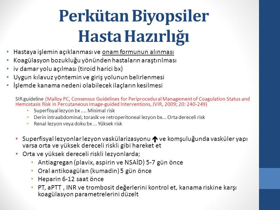 Perkütan Biyopsiler Modalite - BT Biyopsi için 2.
