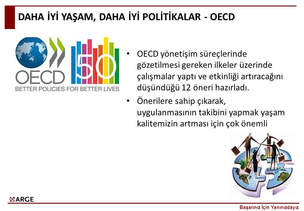 DAHA İYİ YAŞAM, DAHA İYİ POLİTİKALAR - OECD OECD yönetişim süreçlerinde gözetilmesi gereken ilkeler üzerinde çalışmalar yaptı ve etkinliği artıracağını düşündüğü 12 öneri hazırladı.