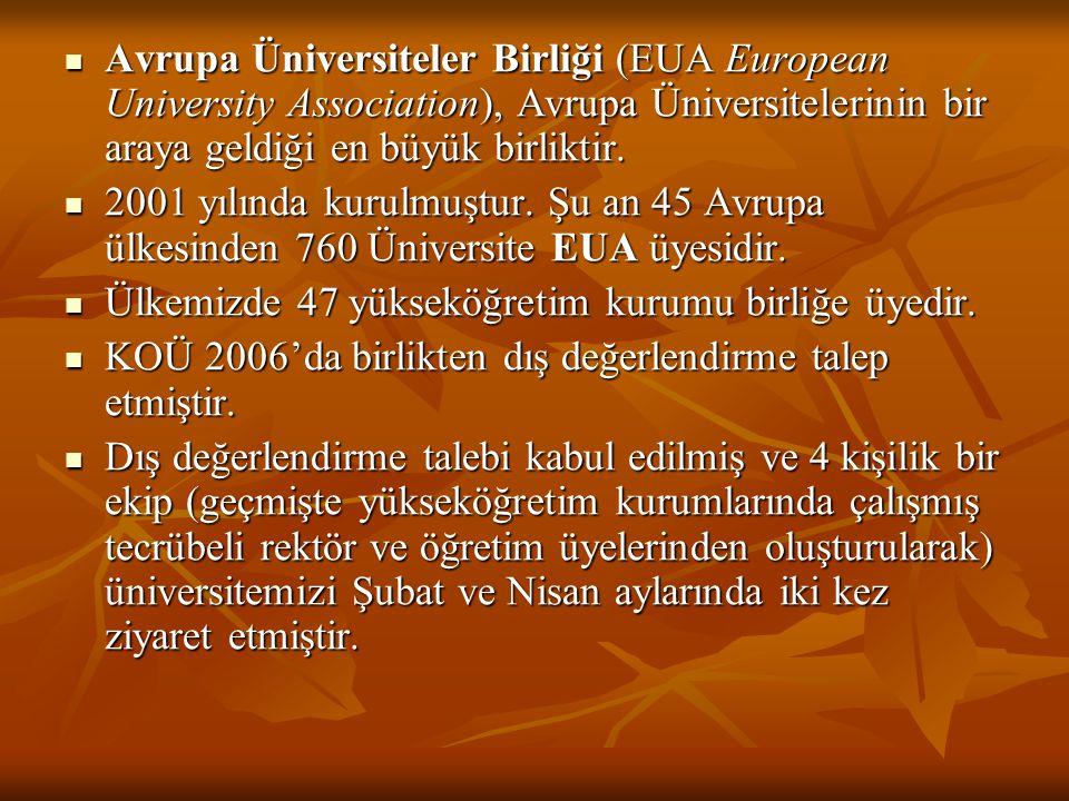 Avrupa Üniversiteler Birliği (EUA European University Association), Avrupa Üniversitelerinin bir araya geldiği en büyük birliktir.