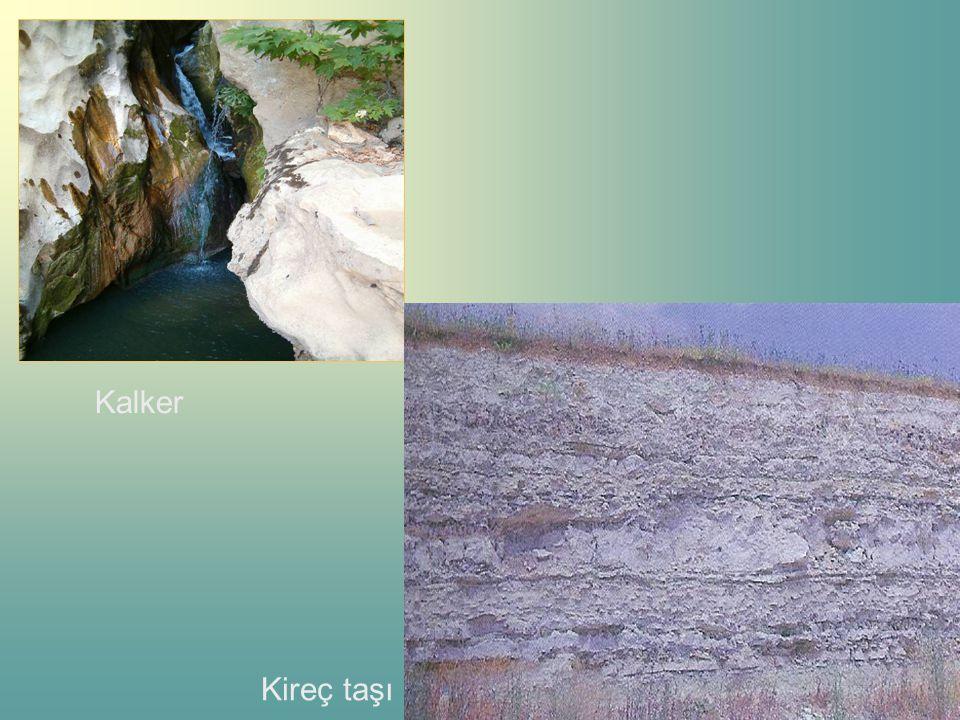 SSSSuda eriyebilen minerallerin, su ortamında çökelmesi ve taşlaşması sonucu oluşurlar. TTTTraverten,sarkıt, dikit,tuz(kaya tuzu),kireç taşı(k