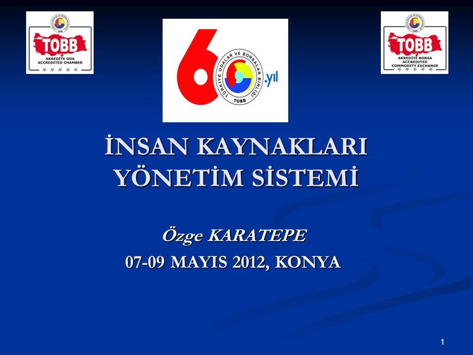 İNSAN KAYNAKLARI YÖNETİM SİSTEMİ Özge KARATEPE 07-09 MAYIS 2012, KONYA 1