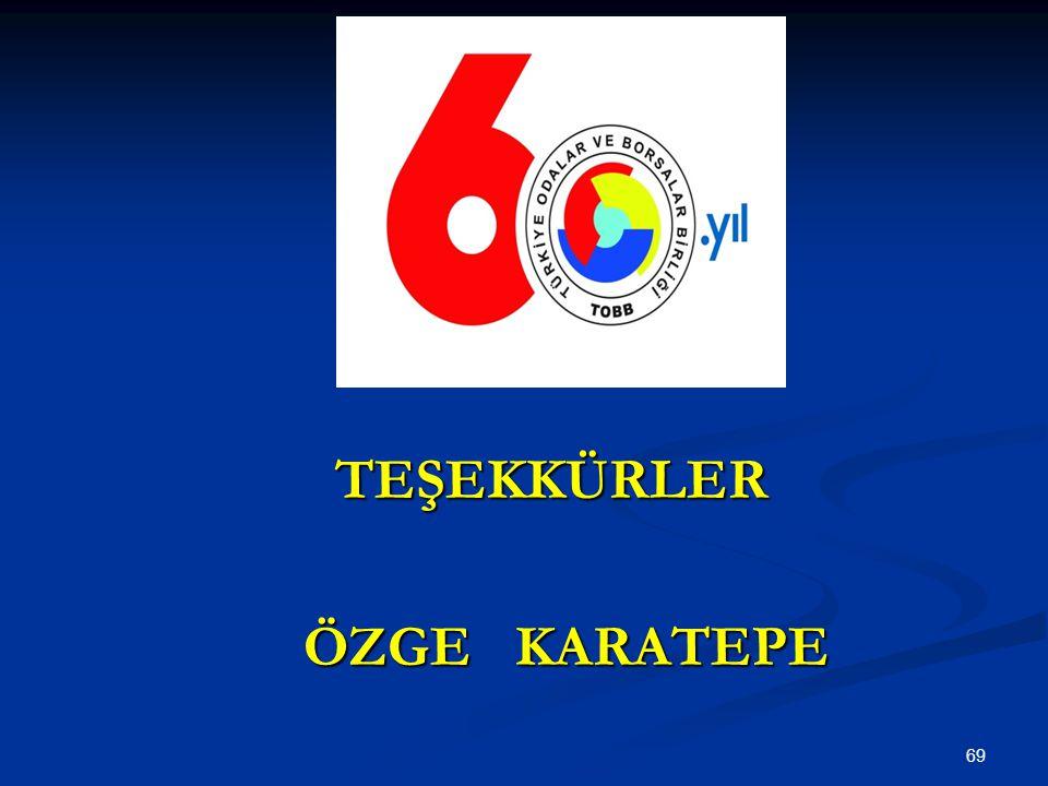 69 TEŞEKKÜRLER ÖZGE KARATEPE ÖZGE KARATEPE