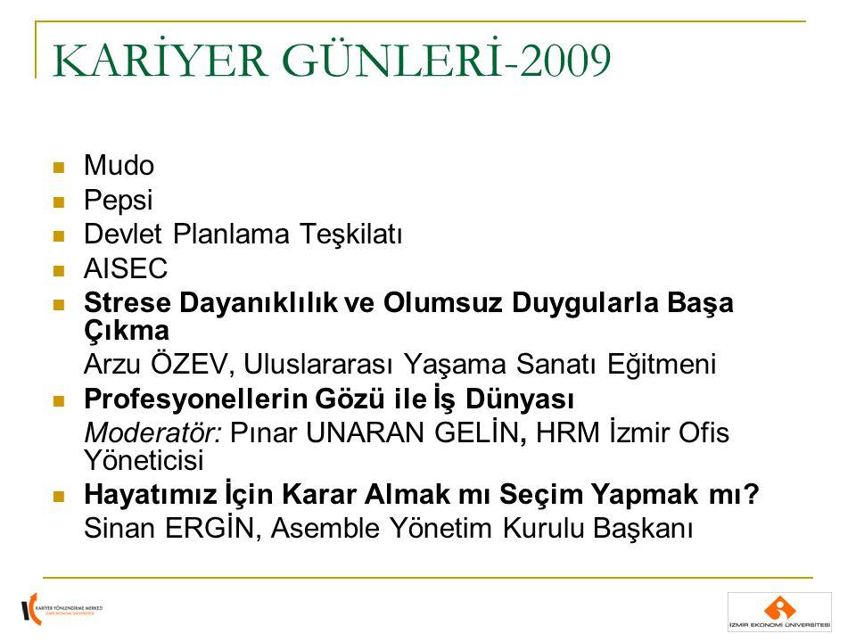 KARİYER GÜNLERİ-2009 Doğru Başlangıç, Doğru Kariyer 1.