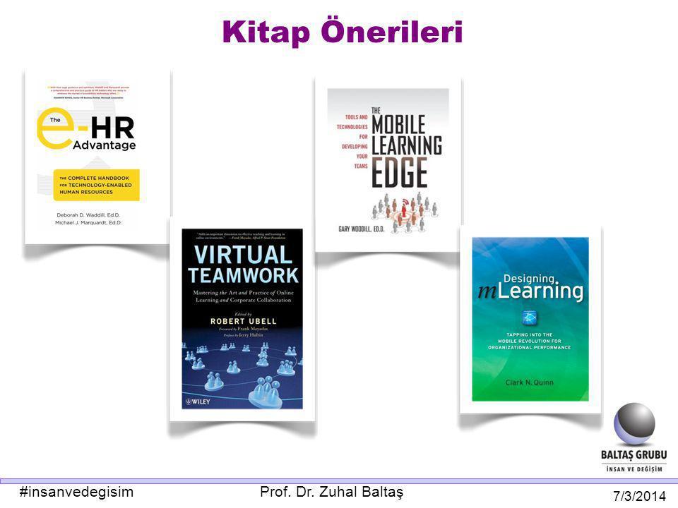 Prof. Dr. Zuhal Baltaş 7/3/2014 #insanvedegisim Kitap Önerileri