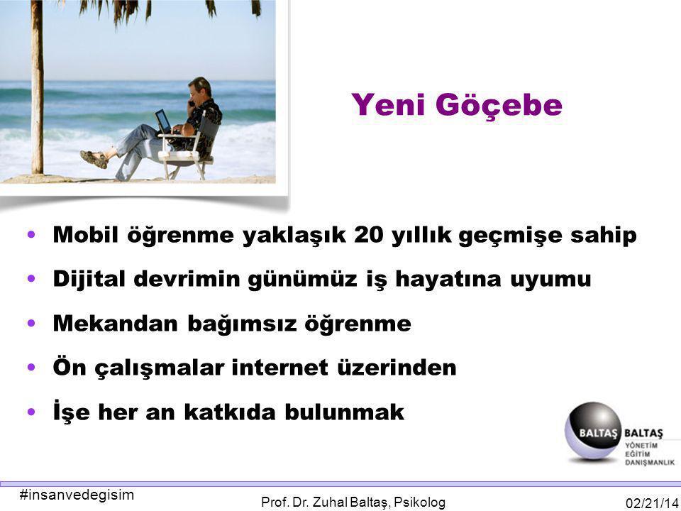 #insanvedegisim 02/21/14 Prof.Dr. Zuhal Baltaş, Psikolog HEPİMİZ BİR STEVE JOBS İSTİYOR MUYUZ.