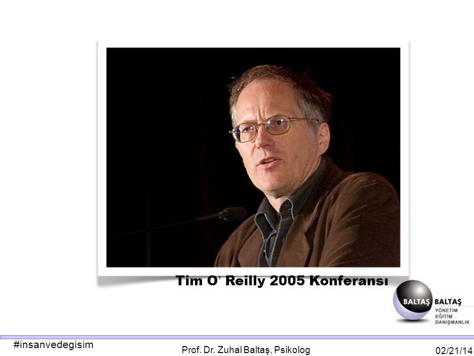 #insanvedegisim 02/21/14 Prof. Dr. Zuhal Baltaş, Psikolog Tim O ' Reilly 2005 Konferansı