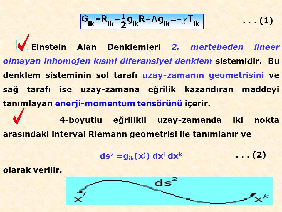 Einstein Alan Denklemleri 2.