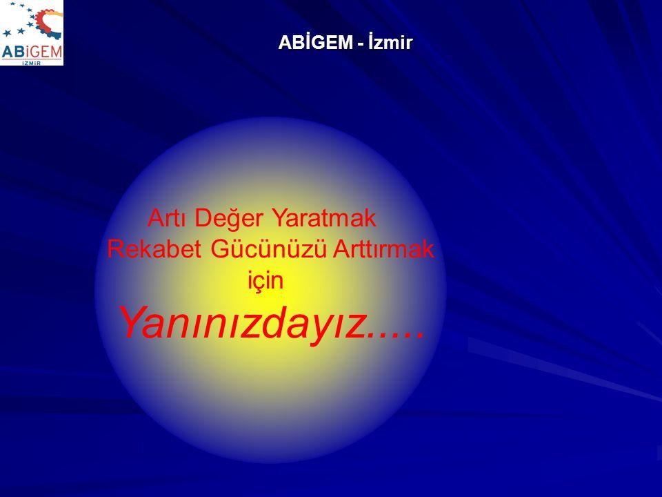 ABİGEM - İzmir Artı Değer Yaratmak Rekabet Gücünüzü Arttırmak için Yanınızdayız.....