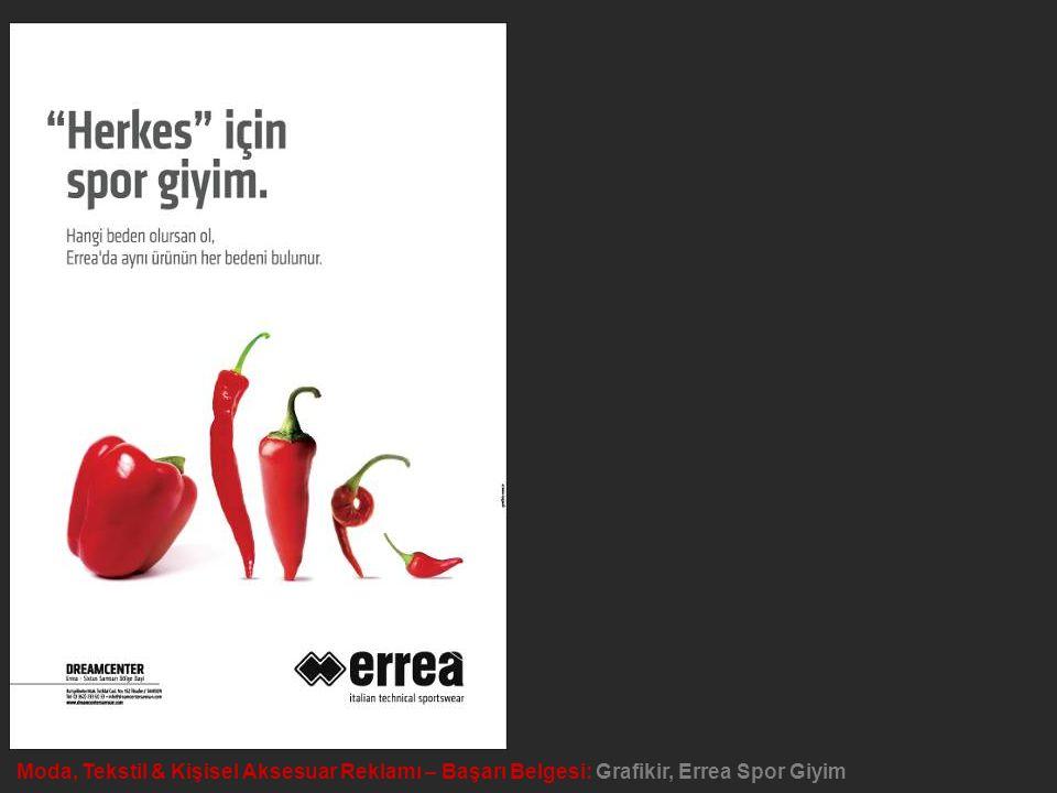 Moda, Tekstil & Kişisel Aksesuar Reklamı – Başarı Belgesi: Grafikir, Errea Spor Giyim