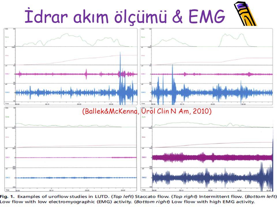 İdrar akım ölçümü & EMG (Ballek&McKenna, Urol Clin N Am, 2010)