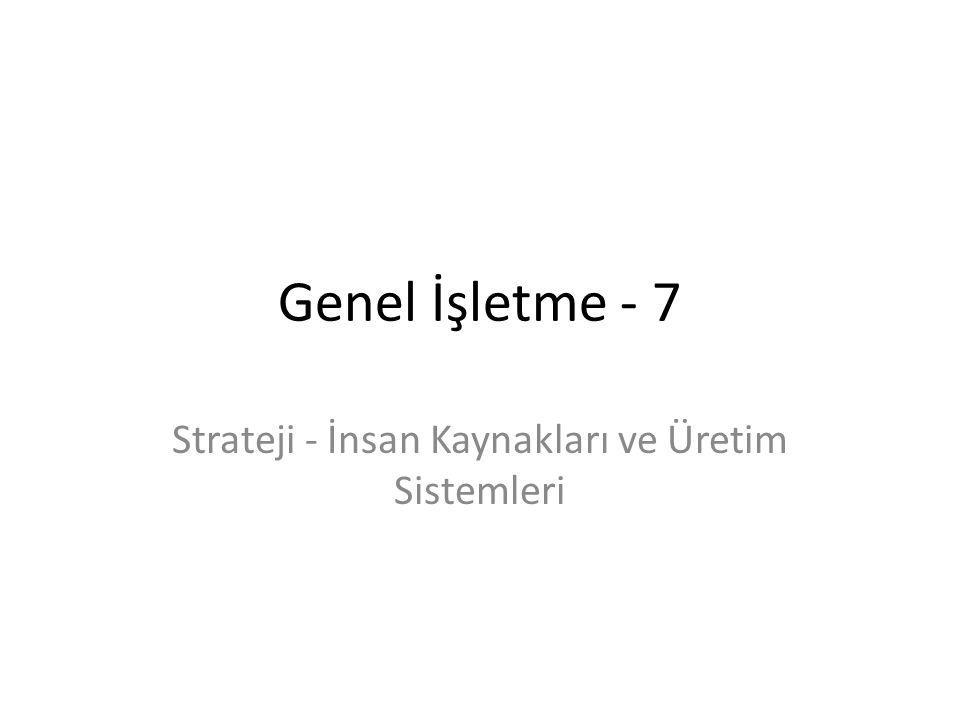 Genel İşletme - 7 Strateji - İnsan Kaynakları ve Üretim Sistemleri