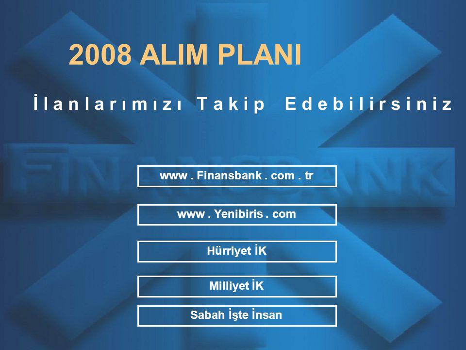 2008 ALIM PLANI İ l a n l a r ı m ı z ı T a k i p E d e b i l i r s i n i z www.