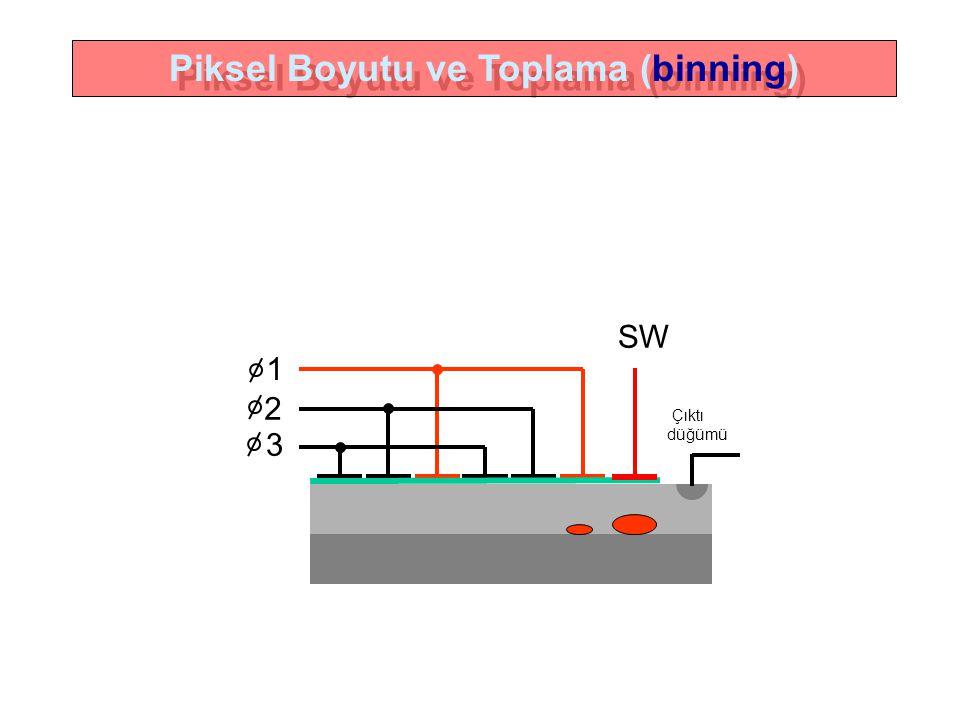 1 2 3 SW Çıktı düğümü Piksel Boyutu ve Toplama (binning)