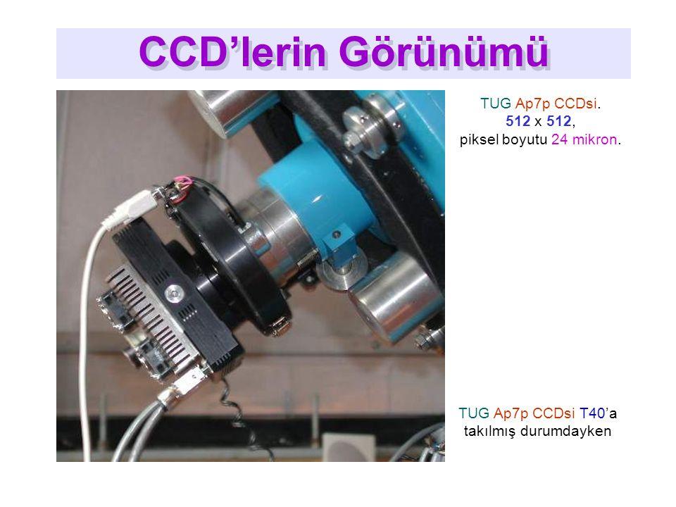 TUG Ap7p CCDsi.512 x 512, piksel boyutu 24 mikron.