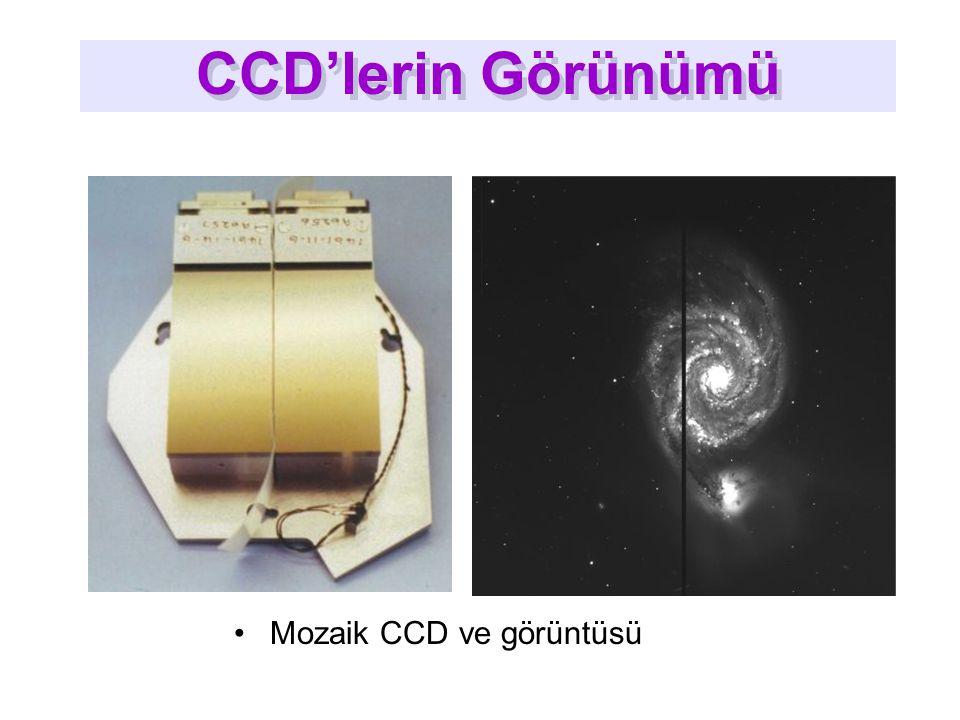 Mozaik CCD ve görüntüsü CCD'lerin Görünümü