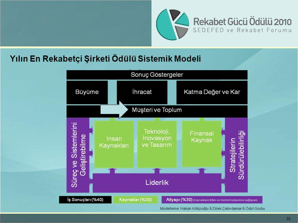 36 Yılın En Rekabetçi Şirketi Ödülü Sistemik Modeli