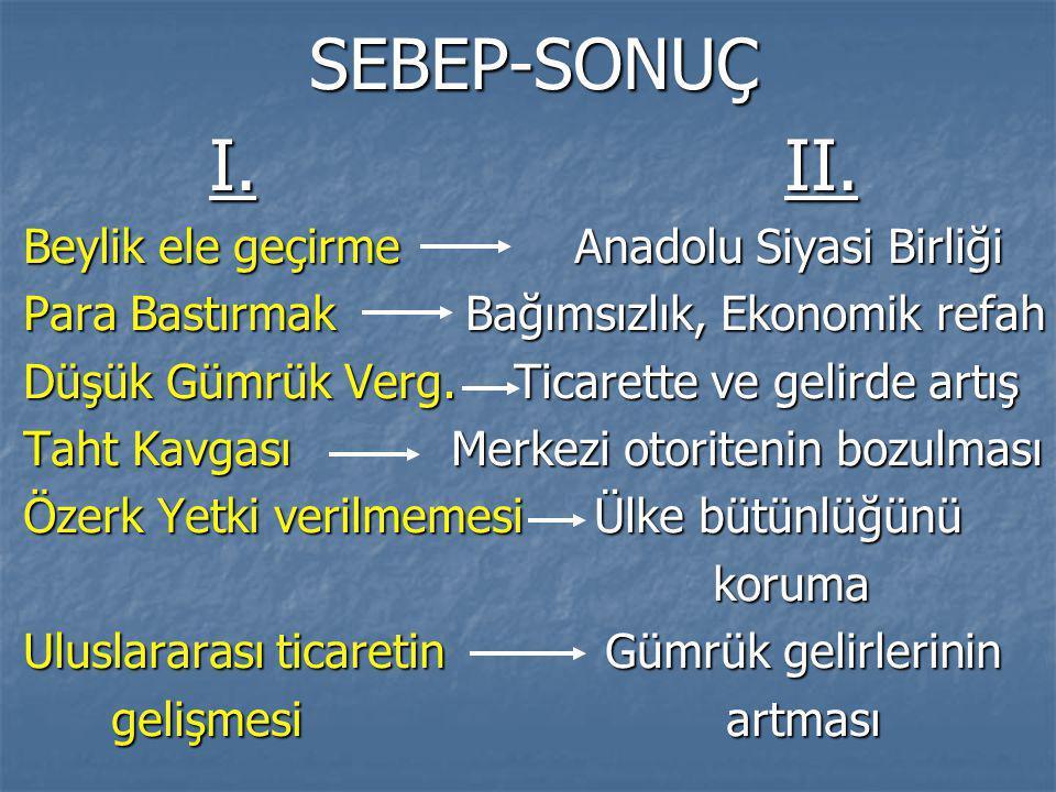 SEBEP-SONUÇ I.II.