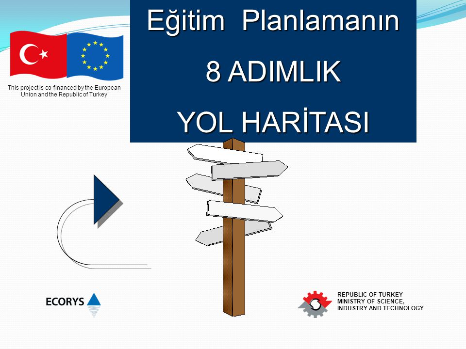 This project is co-financed by the European Union and the Republic of Turkey REPUBLIC OF TURKEY MINISTRY OF SCIENCE, INDUSTRY AND TECHNOLOGY Eğitim Pl