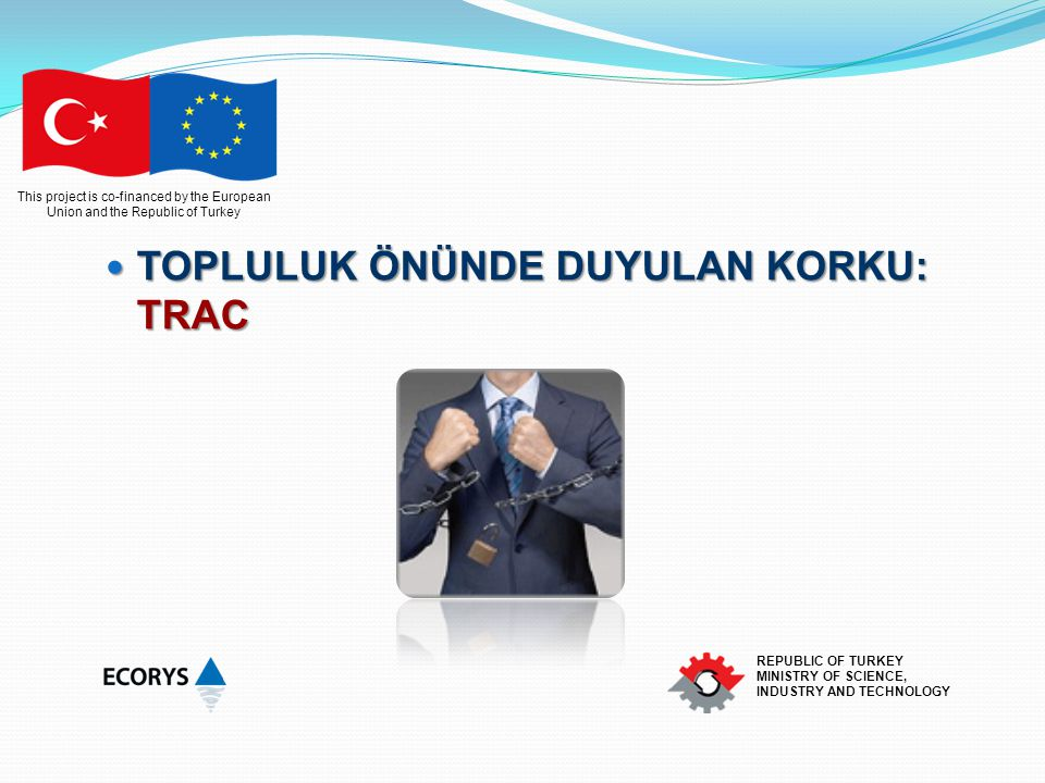 This project is co-financed by the European Union and the Republic of Turkey REPUBLIC OF TURKEY MINISTRY OF SCIENCE, INDUSTRY AND TECHNOLOGY TOPLULUK