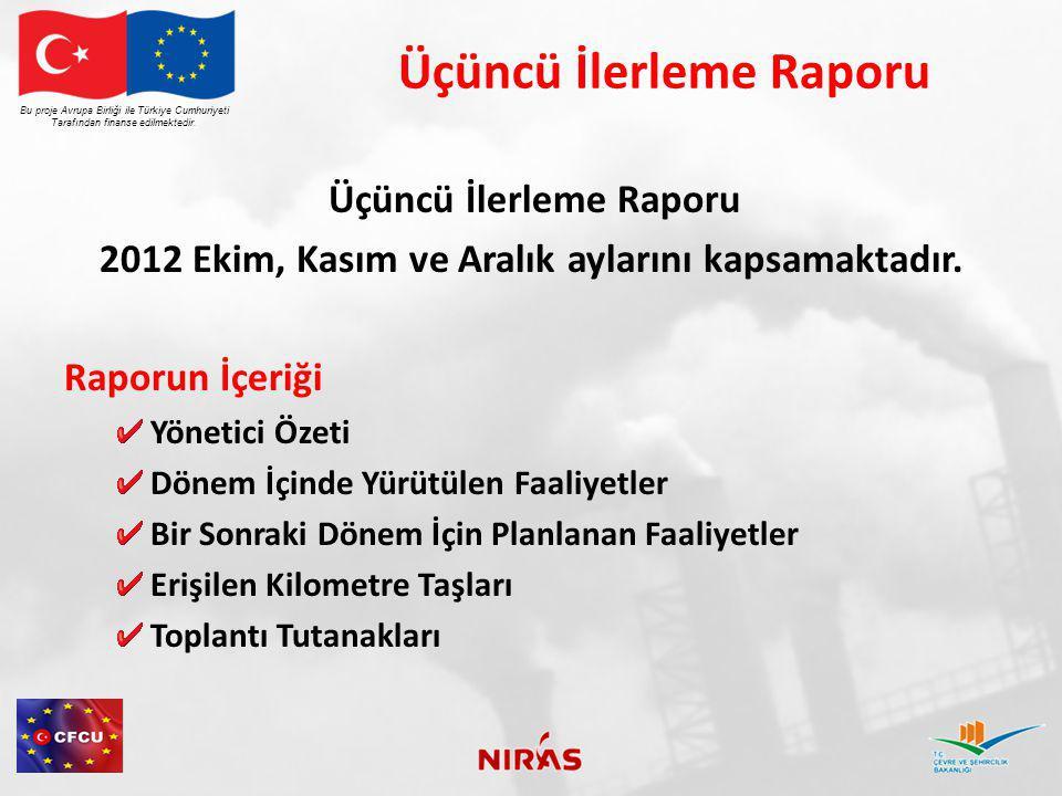 Proje Toplantıları Ekim 4 – 2.ci Yönlendirme Kurul Toplantısı Ekim 5 – OYAK Ekim 11 – Eylül İlerleme Toplantısı Ekim 12 – TOBB Tarım Sanayi Sektör Meclisi Ekim 17 – MFİB ile Başlangıç Raporu Toplantısı Ekim 18 – TOBB Gıda Sanayi Sektör Meclisi (İstanbul) Ekim 19 – Aküder Sanayi Gurubu (İstanbul) Kasım 9 – ÇŞB Atık Yönetimi ile Toplantı Kasım 15 – Kasım İlerleme Toplantısı Kasım 20 – ÇŞB Atık Yönetimi ile DEA Toplantısı Kasım 21 – ÇŞB ile DEA Ekonomi Toplantısı Kasım 22 – ÇŞB ve MFİB ile Komunikasyon Plan Toplantısı Aralık 3 – TOBB Hayvancılık Sektör Meclisi Aralık 4 – ÇŞB ile Envanter Toplantısı Aralık 5 – Aralık İlerleme Toplantısı Aralık 11 – TOBB Kozmetik ve Temizlik Ürünleri Sanayi Sektör Meclisi Bu proje Avrupa Birliği ile Türkiye Cumhuriyeti Tarafından finanse edilmektedir.