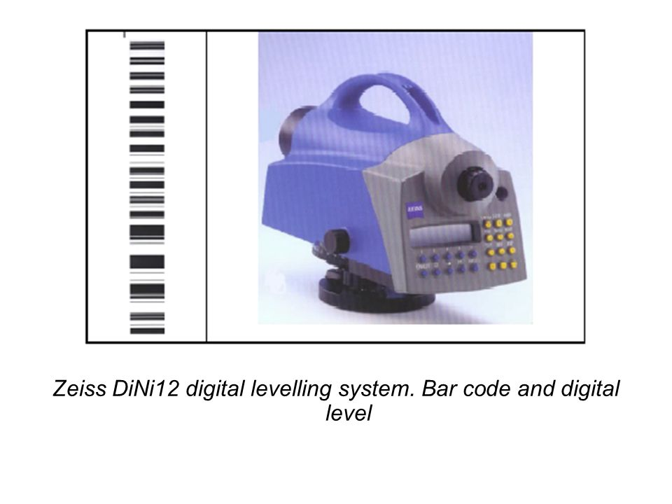 Zeiss DiNi12 digital levelling system. Bar code and digital level