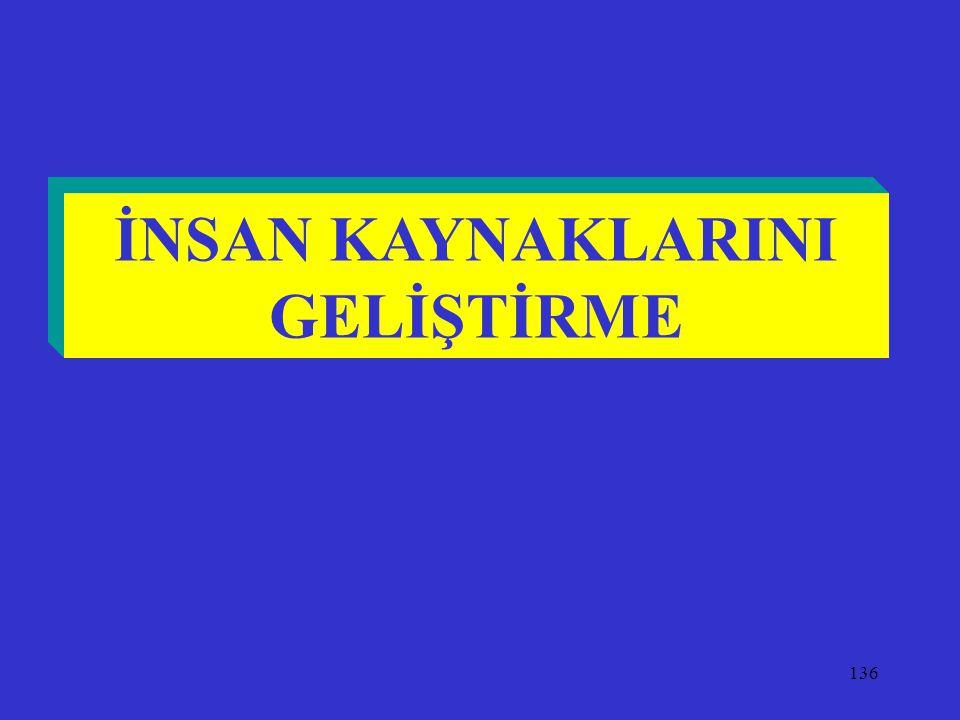 136 İNSAN KAYNAKLARINI GELİŞTİRME