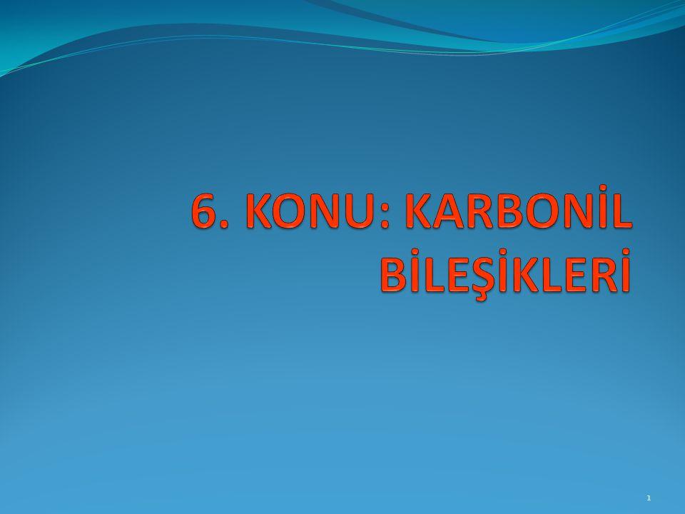 4) Organik asitlerin metal tuzlarının ısıtılması sonucu keton elde edilir.