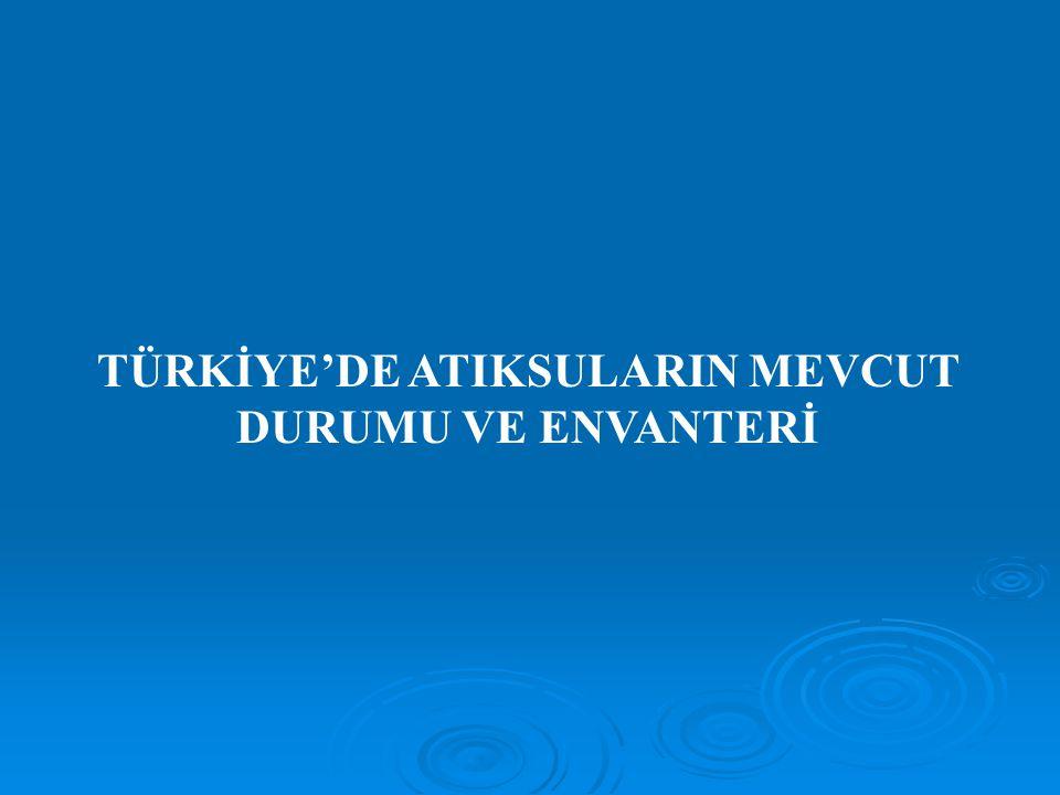 Atık Su Alt Yapı Sistemleri TÜİK Başkanlığı tarafından, belediye teşkilatları kurulmuş tüm belediyelerden elde edilen Belediye Atık Su Temel Gösterge Sonuçları na göre; 2006 yılında 3225 belediyeden 2321 belediyede kanalizasyon şebekesi ile hizmet verildiği belirlenmiştir.