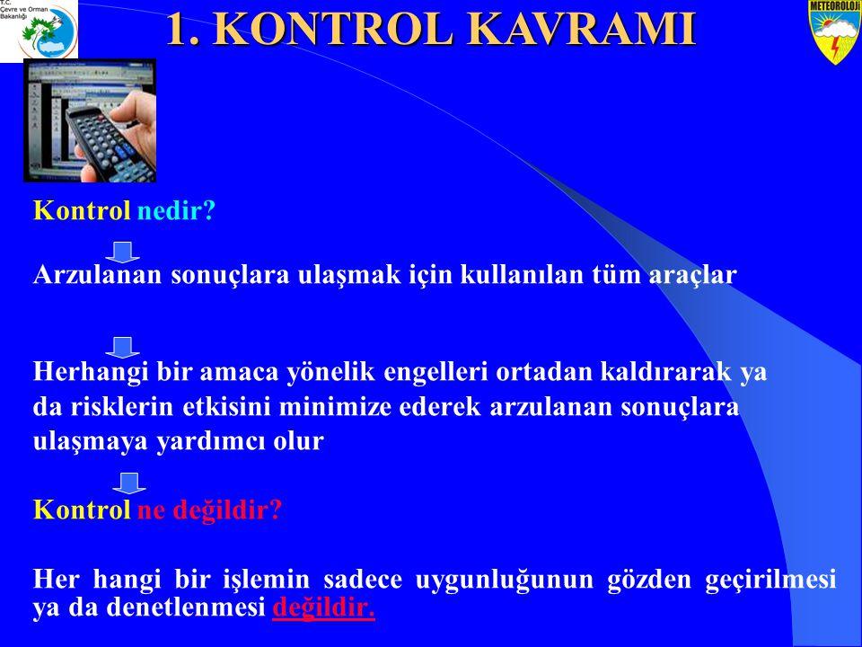 3.KONTROL FAALİYETLERİ STANDARTLARI 7.