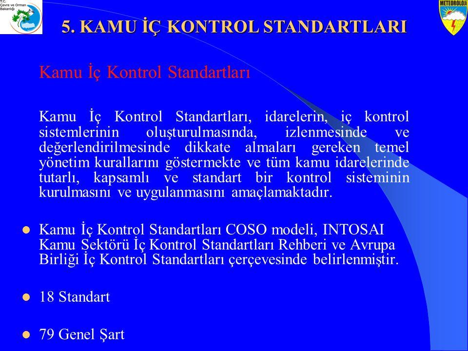 Kamu İç Kontrol Standartları Kamu İç Kontrol Standartları, idarelerin, iç kontrol sistemlerinin oluşturulmasında, izlenmesinde ve değerlendirilmesinde