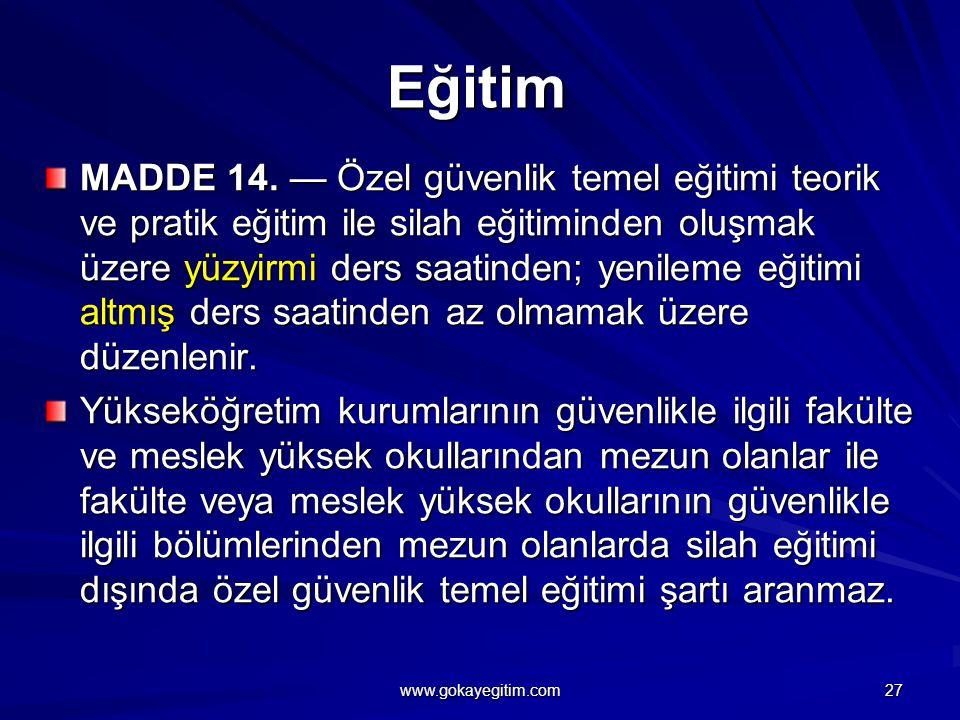 Eğitim MADDE 14.