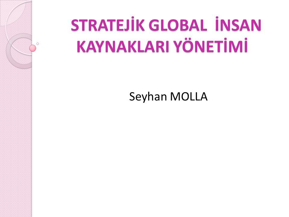 STRATEJİK GLOBAL İNSAN KAYNAKLARI YÖNETİMİ Stratejik rekabet avantajını geliştirmek isteyen bir örgüt için en vazgeçilmez öğe insan kaynaklarıdır ( Wright ve dğr., 1994; Lepak ve Snell, 1999).
