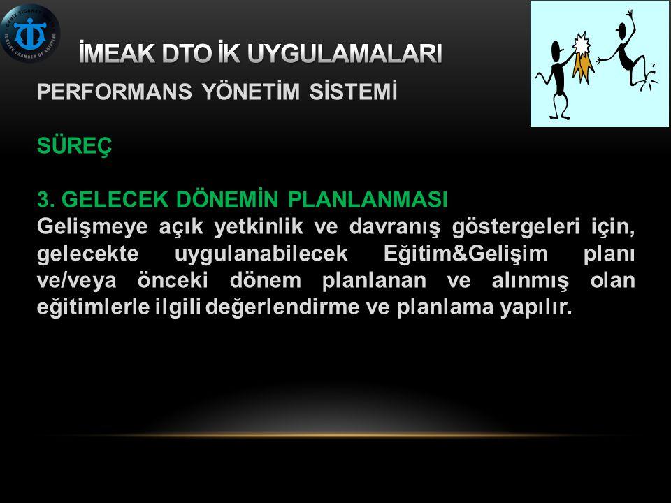 PERFORMANS YÖNETİM SİSTEMİ SÜREÇ 3.
