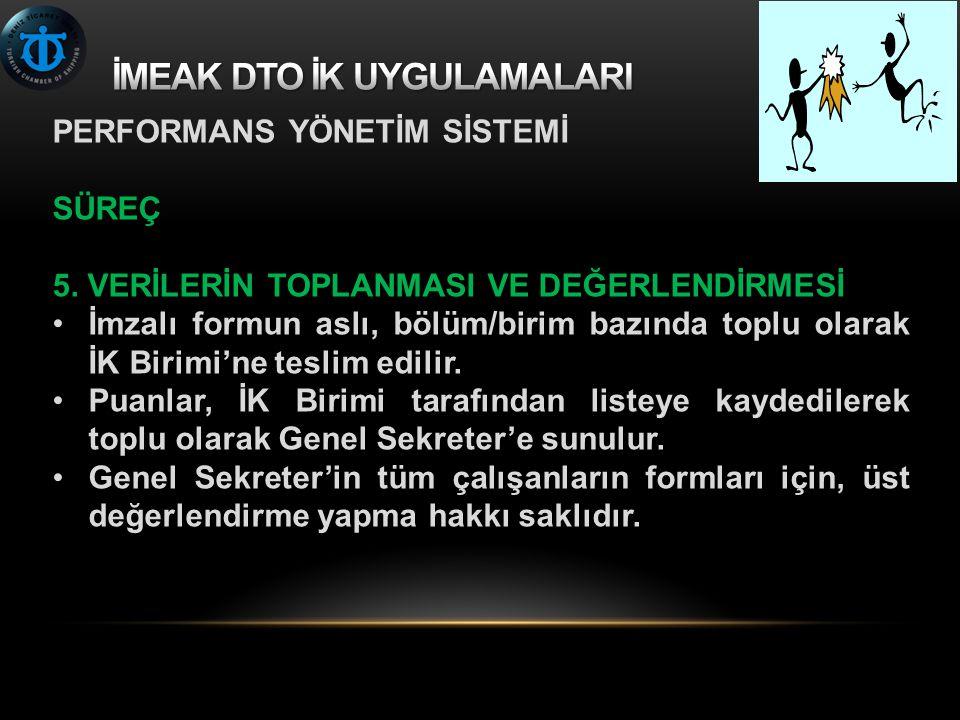 PERFORMANS YÖNETİM SİSTEMİ SÜREÇ 5.