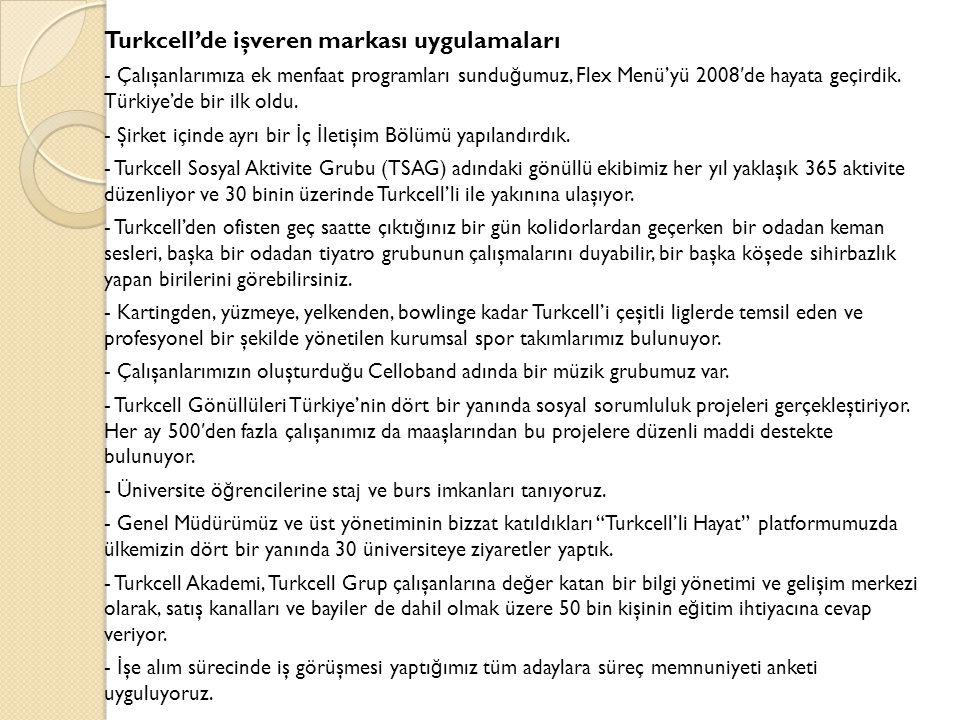 Turkcell'de işveren markası uygulamaları - Çalışanlarımıza ek menfaat programları sundu ğ umuz, Flex Menü'yü 2008 ′ de hayata geçirdik.