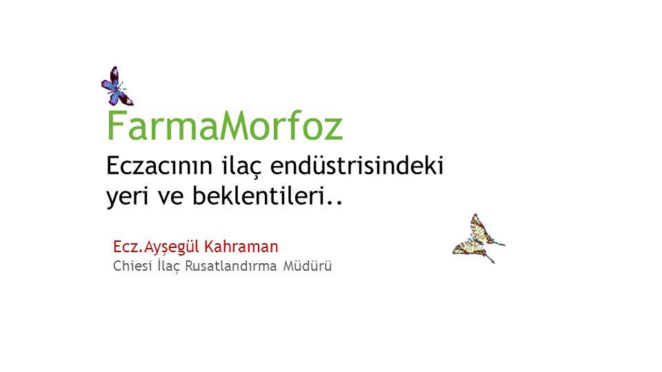 FarmaMorfoz Eczacının ilaç endüstrisindeki yeri ve beklentileri.. Ecz. Filiz Balçay Chiesi İlaç Genel Müdürü Ecz.Ayşegül Kahraman Chiesi İlaç Rusatlan