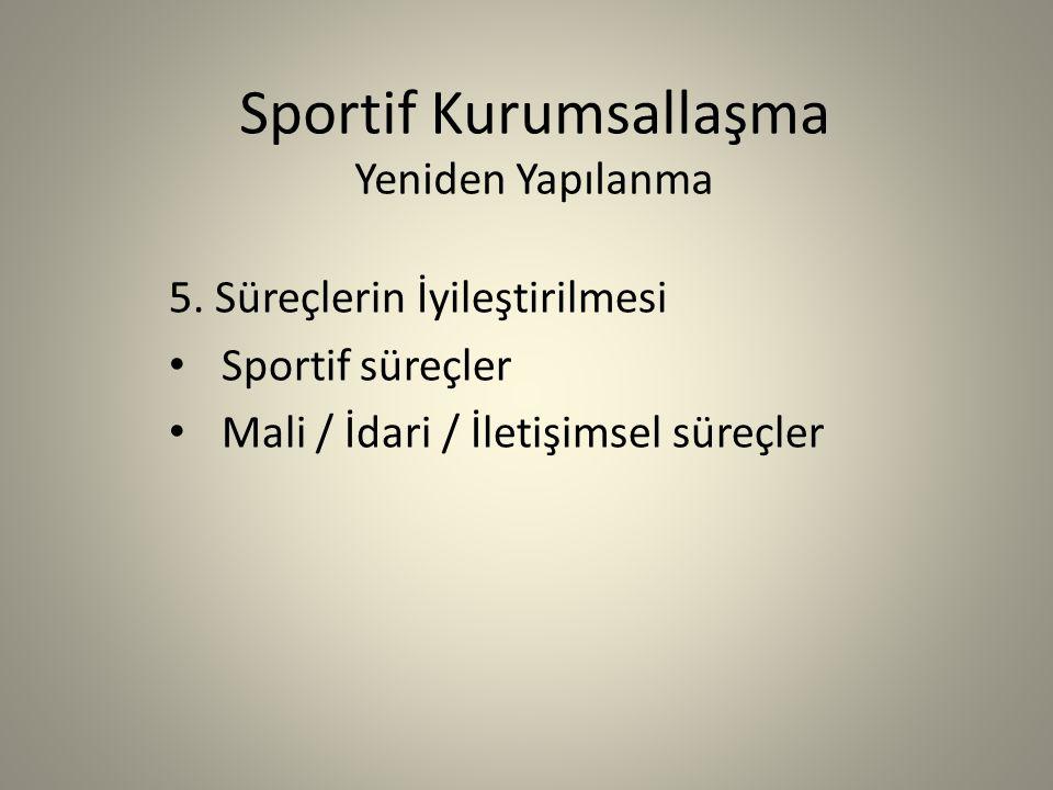 Sportif Kurumsallaşma Yeniden Yapılanma 5.