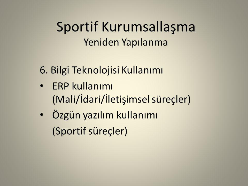 Sportif Kurumsallaşma Yeniden Yapılanma 6.