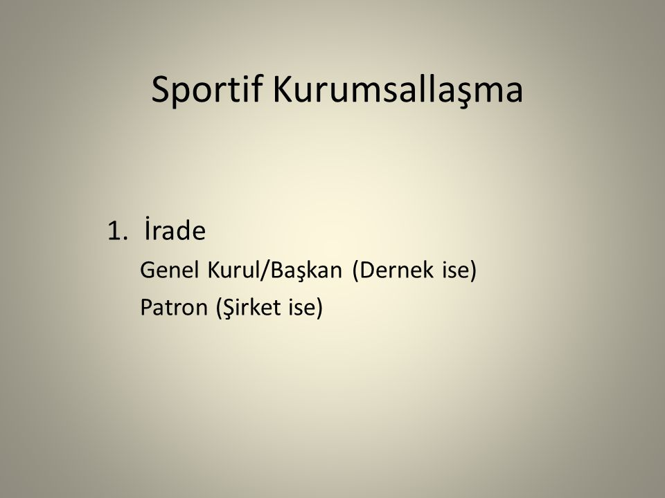 Sportif Kurumsallaşma 2.